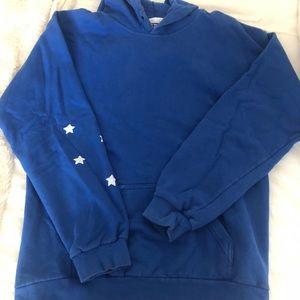 Blue Oversized Skeleton hoodie